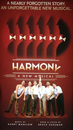 Harmony the musical poster Ahmanson Theatre LA.
