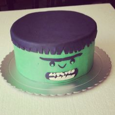 SpiderMan Hulk cake CakesCupcakesCookiesCake Pops