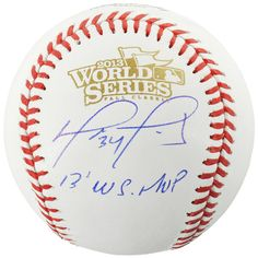 David Ortiz Boston Red Sox Fanatics Authentic Autographed 2013 World Series Logo Baseball with 2013 WS MVP Inscription - $399.99