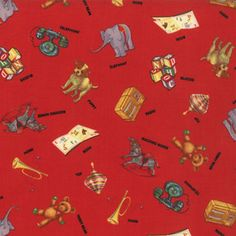 ABC 123 Toys on Red Fabric #21622- by American Jane for Moda Fabrics - http://lisasstitchingpost.com/product_info.php?cPath=1_64_160&products_id=1094