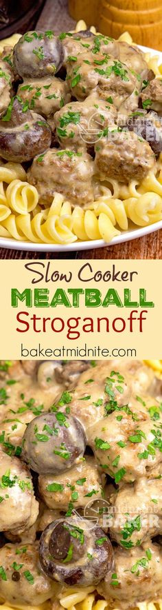 This meatball stroganoff is a quick slow cooker meal. Cooks in 3 hours. Make the…