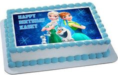 Frozen Fever Elsa Anna Edible Cake Topper & Cupcake Toppers – Edible Prints On Cake (EPoC)