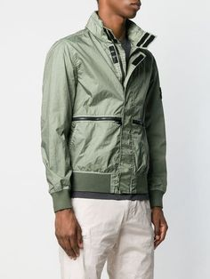 7a92da9dacf3 Stone Island Bomber Jacket With Zipper Detail - Farfetch