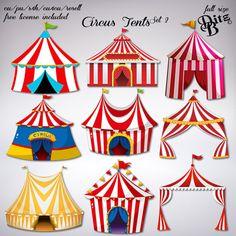 Circus Tents Scrapbooking Album, Scrapbook Titles, Scrapbook Templates, Scrapbook Supplies, Scrapbook Cover, Circus Crafts, Circus Art, Circus Theme, Circus Tents