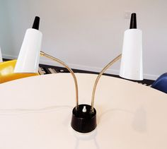 Mid century double headed lamp by plastolux on Etsy