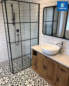 Absolute stunning bathroom completed by StoneChat tiling with great taste from the customer Rustic Bathroom Shelves, Rustic Bathroom Vanities, White Bathroom, Bathroom Design Small, Bathroom Interior Design, Upstairs Bathrooms, Beautiful Bathrooms, Modern Bathrooms, Bathroom Inspiration