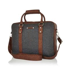 A comfortable yet sophisticated look is revealed with this new luxury messenger briefcase by River Island. It's simple and sleek, making it the perfect business