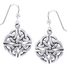 Carolina Glamour Collection Sterling Silver Celtic Trinity Quadrata... ($43) ❤ liked on Polyvore featuring jewelry, earrings, silver, sterling silver dangle earrings, sterling silver jewelry, knot jewelry, hook earrings and long dangle earrings