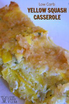 Yellow squash casserole recipe slice cover