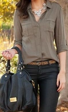 Love this fall fashion [ AlbertoFermaniUSA.com ] #fall #fashion #style