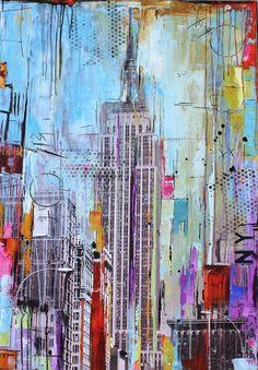 original pintura pop arte abstracto pintura nueva por jolinaanthony, $499.00: