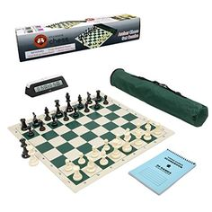 Wholesale Chess Club Starter Combo with Clock & Scorebook - Green -- Check this awesome product by going to the link at the image.