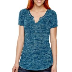 a.n.a® Short-Sleeve Textured Knit T-Shirt  found at @JCPenney