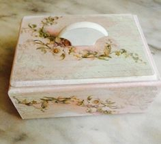 Wedding Ring Bearer Box. Wood Decoupage Lily of the Valley Box. Handmade Jewelry Box. Lily of the valley. Wood Cardholder. Custom ring box