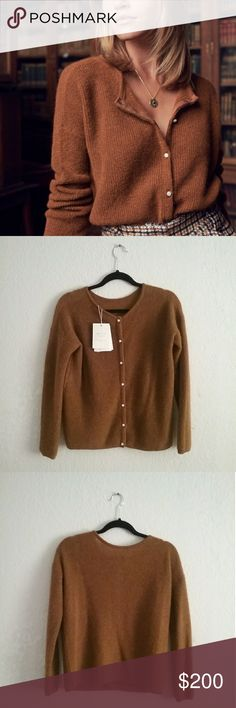 d87211e821509 Sezane gaspard jumper Color caramel (sold out in color) New with tags.  Includes