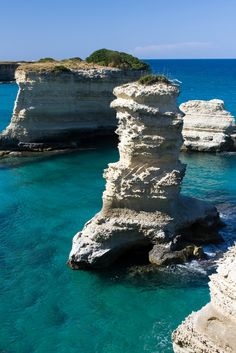 Torre Sant'Andrea, Puglia, Italy. I love this, maybe becuase it reminds me of Assassins Creed: Black Flag c:
