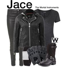 Inspired by Jamie Campbell Bower as Jace in The Mortal Instruments - City of Bones - Shopping info! Pretty Outfits, Cool Outfits, Casual Outfits, Fashion Outfits, Shadowhunters Outfit, Hunter Costume, Looks Style, My Style, Fandom Outfits