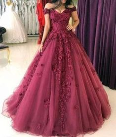 Cheap prom dresses lace appliques prom dresses ball gowns,tulle dress,off shoulder evening gowns Bridal Dresses Online, Cheap Prom Dresses, Formal Dresses, Long Dresses, Dresses Dresses, Formal Wear, Homecoming Dresses, Bride Dresses, Bridal Gowns