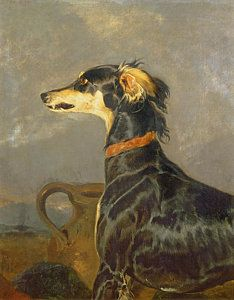 Queen Victorias Favourite Dog Eos Painting by Sir Edwin Henry Landseer Reproduction Dog Artwork, Vintage Artwork, Doberman Pinscher, Art Uk, Klimt, Renoir, Dog Portraits, Matisse, Animal Paintings