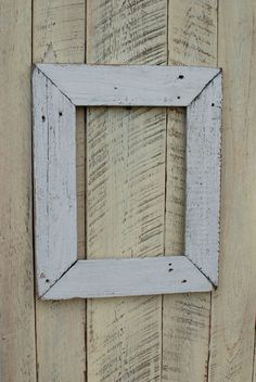 9x12 white fence picket reclaimed wood picture frame by oldlikenew