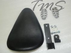 """Black 11.8"""" Softail Solo Seat For Harley With Chrome Bracket & 3"""" Coil Springs by Tmsuschina. $119.99. Save 17%!"""