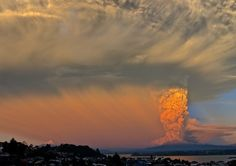 Erupción volcan Calbuco, Chile.