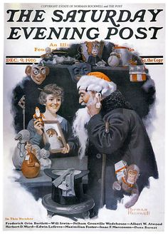 Norman Rockwell - December 09,  1916 - Man Playing Santa - The Saturday Evening Post - By: Norman Rockwell | by x-ray delta one