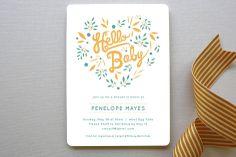 Hello Heart Baby Shower Invitations