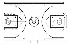 Schools and high schools on pinterest for Cheapest way to make a basketball court