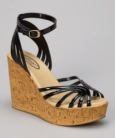 Another great find on #zulily! Black Avanti Wedge by CALLISTO of CALIFORNIA #zulilyfinds