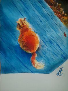 рыжий кот. red cat... autumn