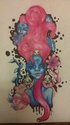 halloween prismacolor drawings