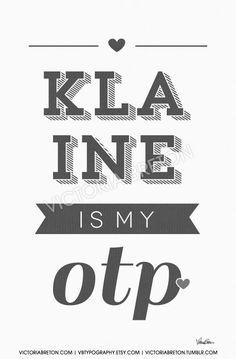 Klaine is my OTP- 11x17 custom typography print - inspirational quote - glee print - college dorm decor - kurt and blaine -modern print