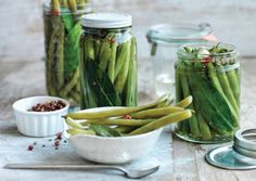 Pink Peppercorn Green Bean Pickles   For color and flavor in homemade pickles, pink peppercorns can't be beat. Use these pickled green beans to jazz up salad plates, sandwiches, and martini cocktails.