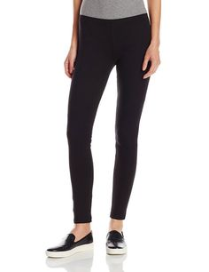 HUE U2243 Cotton Leggings in Black, Size XL