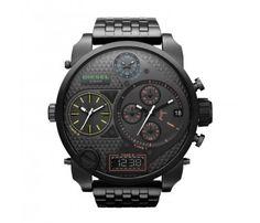 Diesel DZ7266 SBA Oversized Watch with black Metal Strap