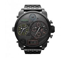 Diesel DZ7266 SBA Oversized Watch with black Metal Strap
