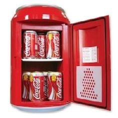 Koolatron Coca Cola Fridge Is A Small Refrigerator Shaped Like A Big Can Of E