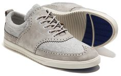 Love these Oxford wingtip-style sneakers!