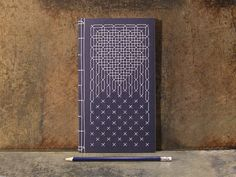 Moroccan Style Embroidered Notebook by FabulousCatPapers