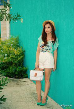 No look verde + off white    por Letícia Oliveira | Blog da Lê       - http://modatrade.com.br/no-look-verde-off-white