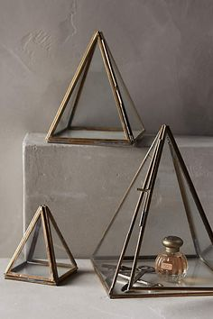 Glass Pyramid Display Cases - anthropologie.com #anthrofave