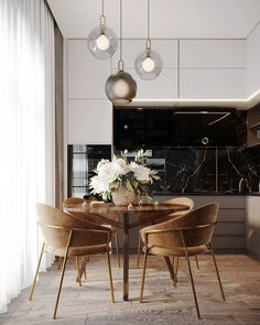 Home Decoration Art .Home Decoration Art Luxury Dining Room, Dining Room Design, Dining Rooms, Modern Kitchen Design, Interior Design Kitchen, Küchen Design, House Design, Small Apartment Interior, Appartement Design