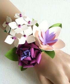 Paper wrist corsage by Eloise Corr Danch.