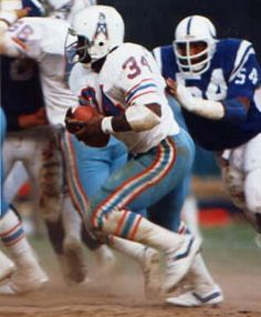 "Steiner Earl Campbell Houston Oilers Running White Jersey Photo w/ ""hof"" Insc Texans Football, Nfl Football Players, Football Helmets, Football Wall, Baseball, Best Running Backs, Texas Legends, Earl Campbell, Houston Oilers"
