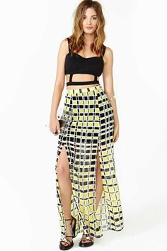 Staccato Maxi Skirt