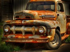 Two Ford by Thomas Young Old Ford Truck.Old Ford Truck. Ford Trucks 2014, Classic Ford Trucks, Old Ford Trucks, Old Pickup Trucks, Farm Trucks, Cool Trucks, Cool Cars, Diesel Trucks, 4x4 Trucks