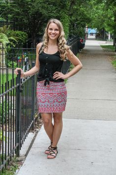 Brandi Embroidered Skirt by THML | Ambitious Kitchen Stitch Fix Review