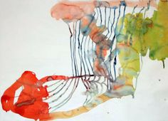 Linda Geary  Even to Itself, 2006  watercolor on paper  43 x 58 in