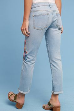 Shop the Pilcro Floral Embroidered Mid-Rise Ankle Jeans and more Anthropologie at Anthropologie today. Read customer reviews, discover product details and more.